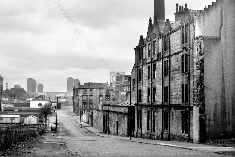 Weaver St., looking north from the Rottenrow.    April 1973