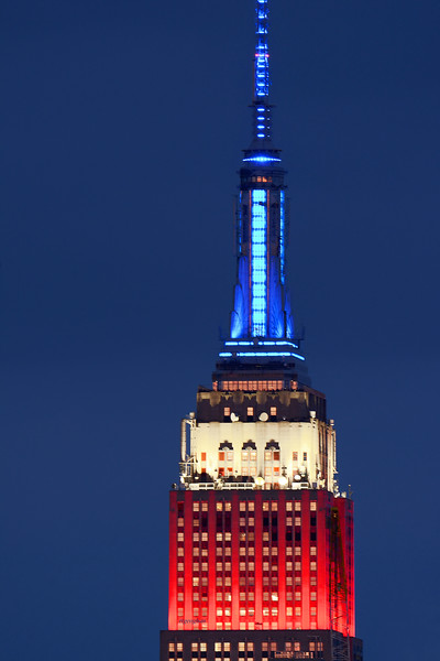 Empire State Building-Red White and Blue