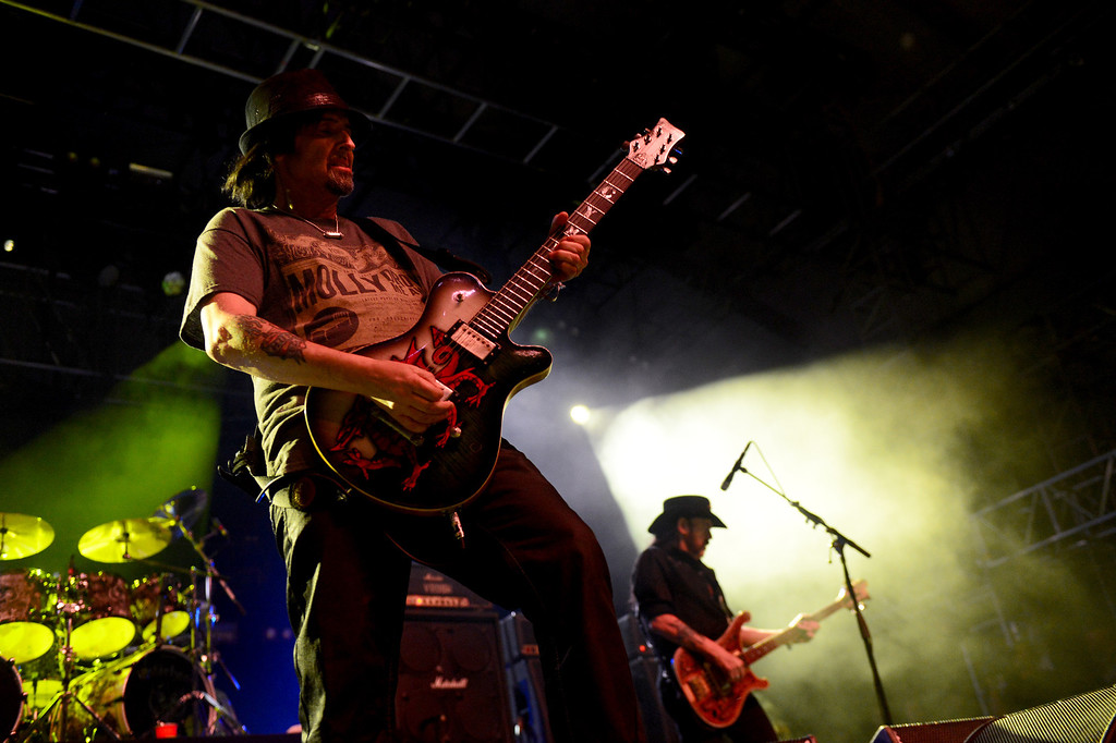 . Motorhead performs on the Mojave stage Sunday night during the first weekend of the Coachella Valley Music and Arts Festival, April 13, 2014. (Photo by Sarah Reingewirtz/Pasadena Star-News)