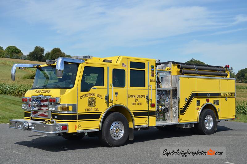 Fawn Grove (Citizens Fire Co.) Engine 56-3: 2009 Pierce Velocity 1500/1250