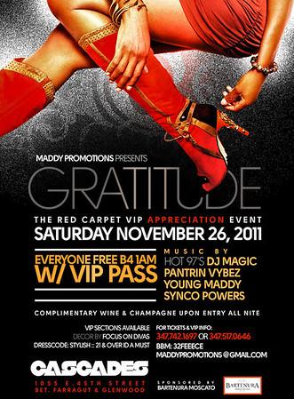 11/26/11  ( GRATITUDE ) DE RED VIP APPRECIATION
