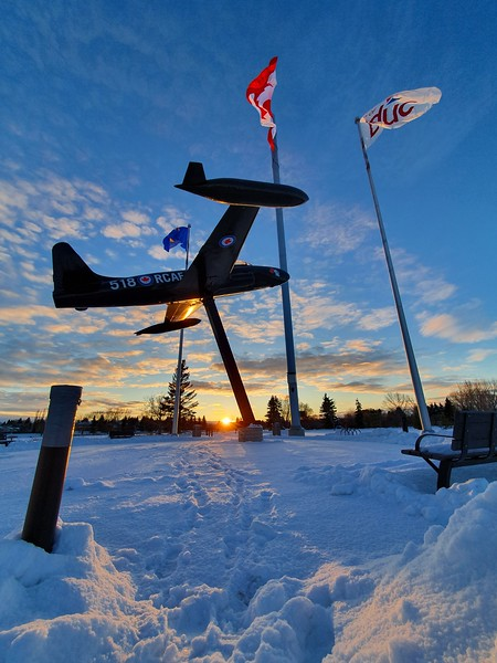 Fred Johns Park - Airplane in winter