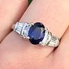 2.08ctw Sapphire and Diamond Ring, GIA No-Heat 22