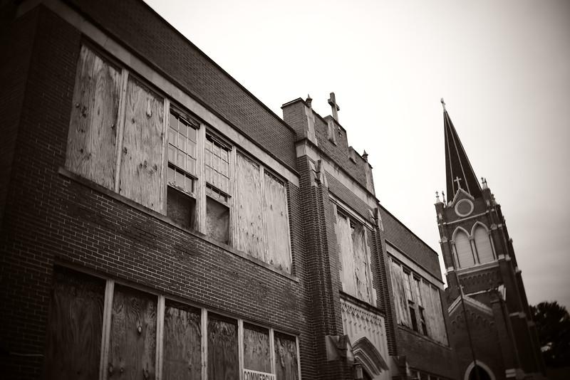 Abandoned School & Church---Nanticoke, PA