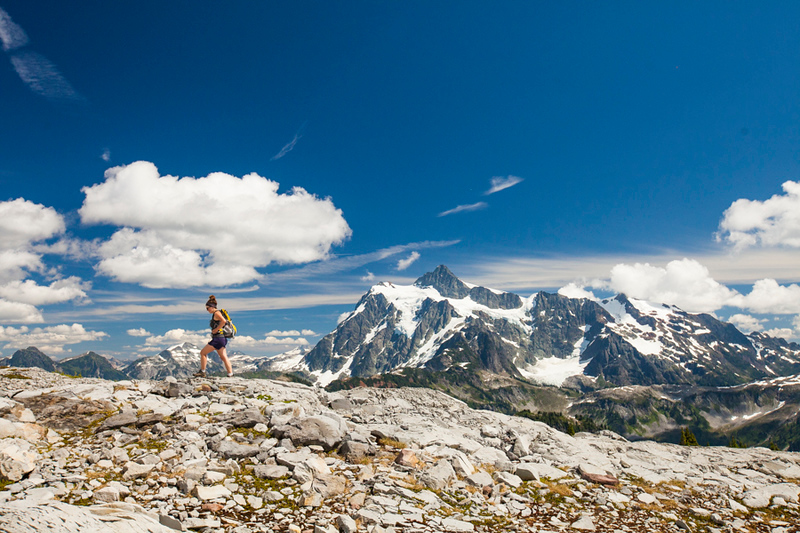 Hiking in North Cascades National Park.