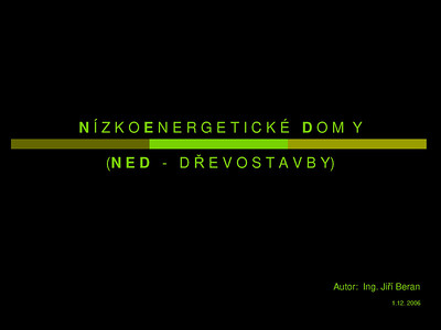 NED - Prezentace