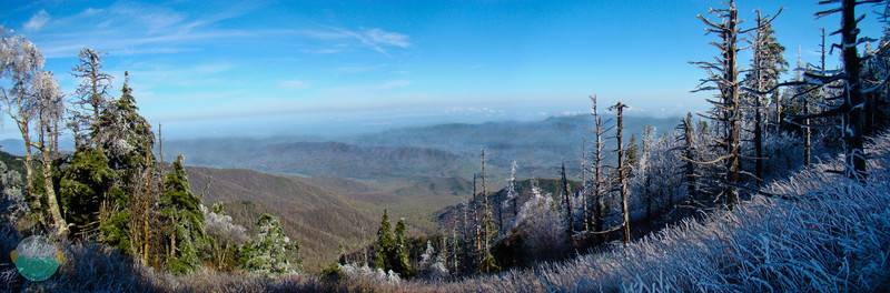 Fire & Ice<br /> An icy morning after snowing the day before on the tops of the Smokies.