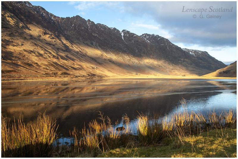 Loch Achtriochtan and Aonach Eagach in late afternoon sunshine (2)