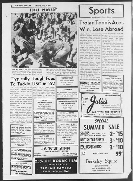 Summer Trojan, Vol. 12, No. 3, July 02, 1962