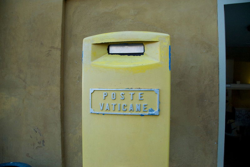 Mailbox spotted in Vatican City