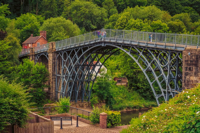 Ironbridge - the first iron bridge ever build