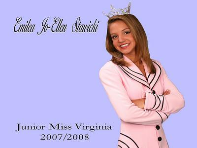 Junior Miss Virginia 2007/2008