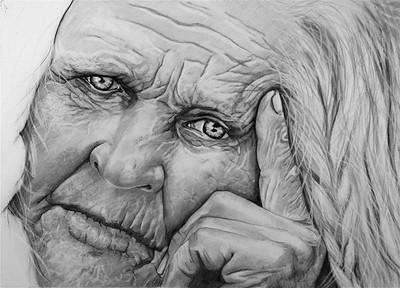 """""""Wisdom"""" (graphite) by Lewis Isaac Testa"""