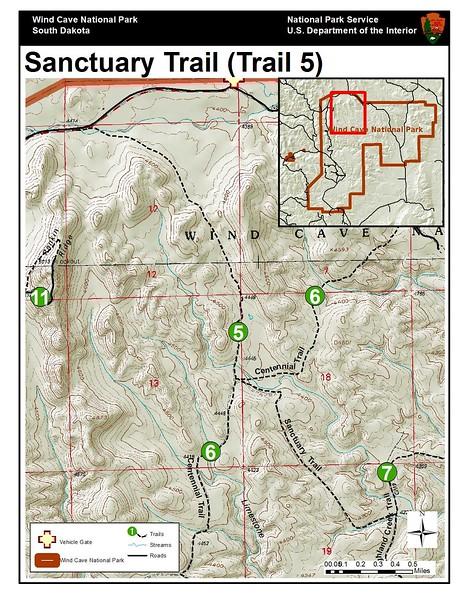Wind Cave National Park (Sanctuary Trail)