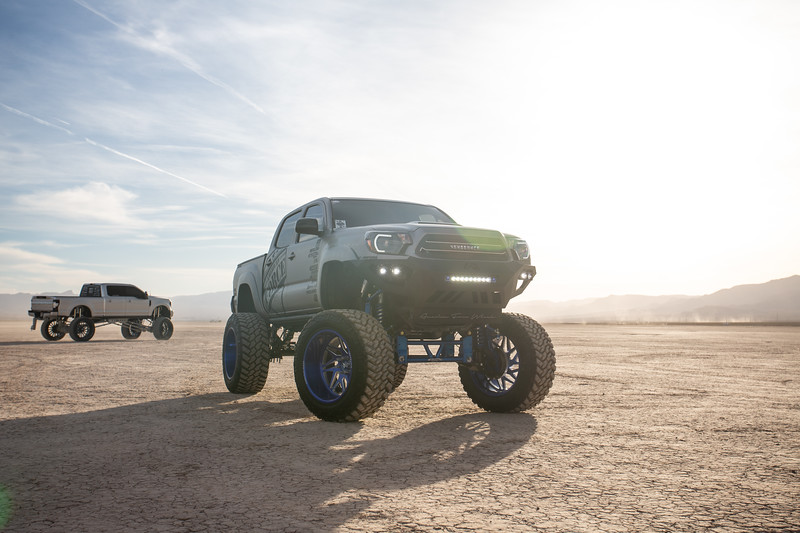 @T_harper96 @Vengeance_tacoma 2005-15 Toyota Tacoma featuring our New 2019 Concave 24x14 Lollipop Blue #GENESIS wrapped in 40x1550x24 @NittoTire-19.jpg