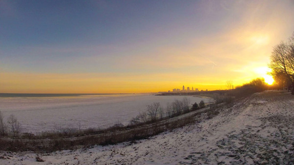 Cleveland Edgewater Sunrise Timelapse Video