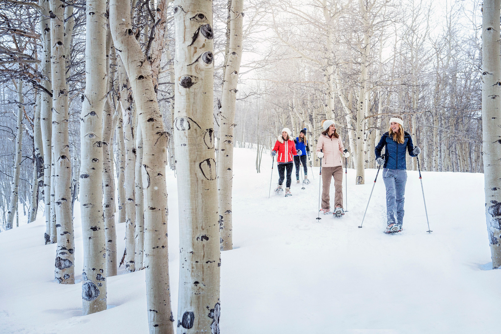 Enjoy snowshoeing and wine at Breckenridge, a Vail Resort.