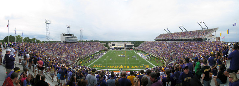 9/11/2010 - ECU vs. Memphis - from high in the endzone