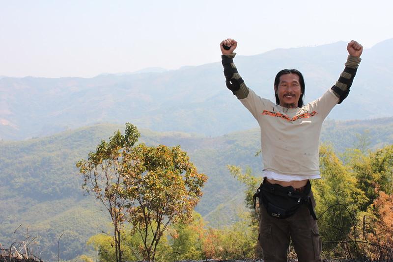 Sa-ngiam celebrates summiting Doi chang