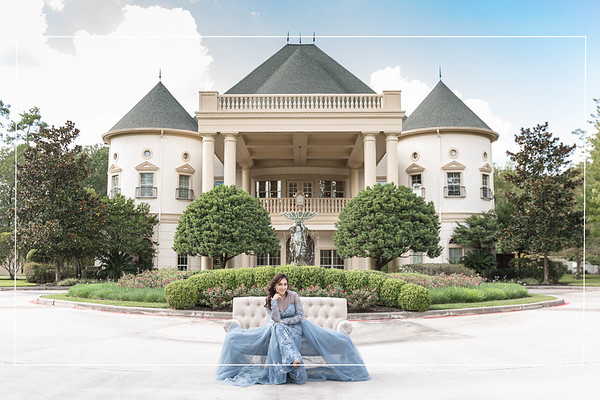 Beautiful Bridal Session with a Dog at The Springs - Cypress in Houston Texas