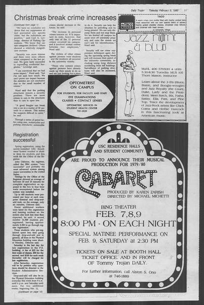 Daily Trojan, Vol. 88, No. 2, February 05, 1980