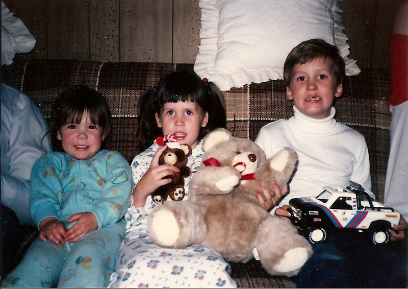 Bridget, Catherine, Fluffy and Edward III -Thanksgiving '84