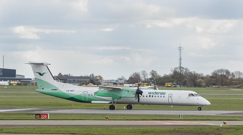 Wideroe Bombardier Dash 8-Q400 LN-WDF in Kopenhagen/DK.