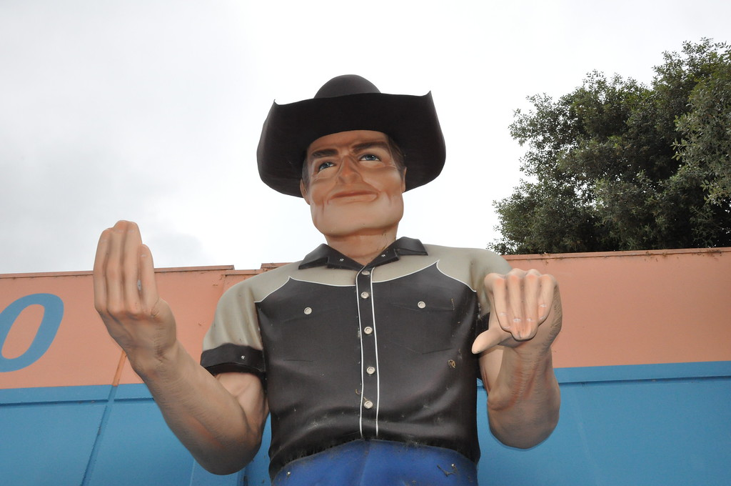 hayward california muffler man cowboy bell plastics