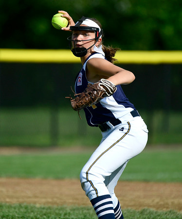 7/24/2019 Mike Orazzi | Staff Connecticut's Talia Salanto (4) during Wednesday's Little League softball game with New Jersey at Breen Field in Bristol.
