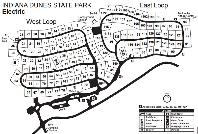Indiana Dunes State Park (Campground Map)