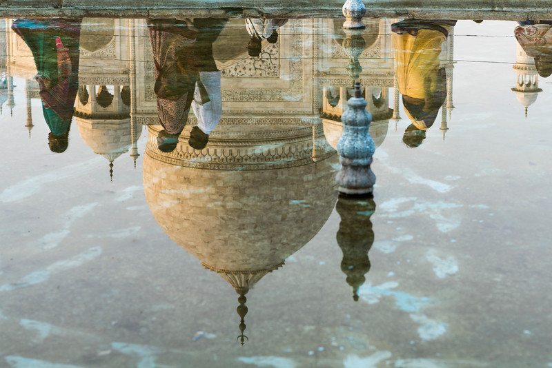Reflection of the Taj Mahal
