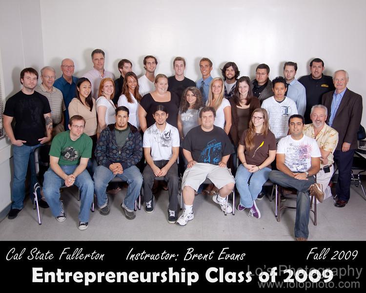 CSUF Entrepreneurship Class - Fall 2009