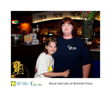 Canadian Cancer Society Relay for Life at Boston Pizza