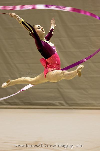 Manon Chaney at the USA Rhythmic Gymnastics Regional Championships.