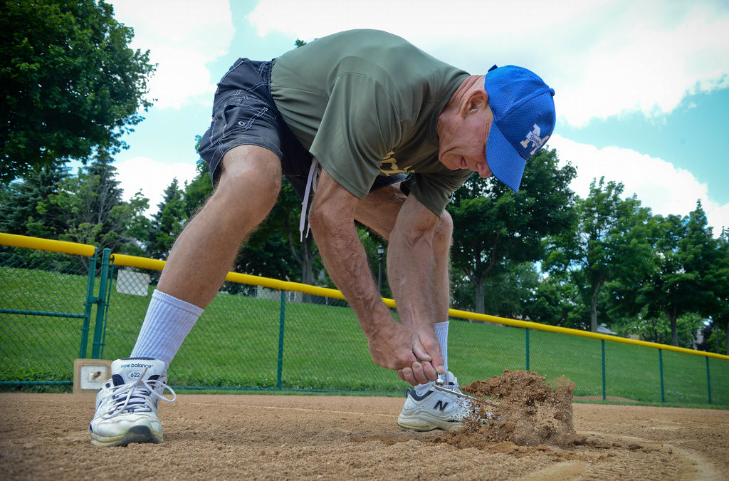. Baseball fundamentals are Peterson�s lifeblood. The ex-marine mentored under longtime Gophers coach Dick Siebert. His practices at the old Oxford playground were so legendary they drew crowds in the hundreds.  (Pioneer Press: Ben Garvin)