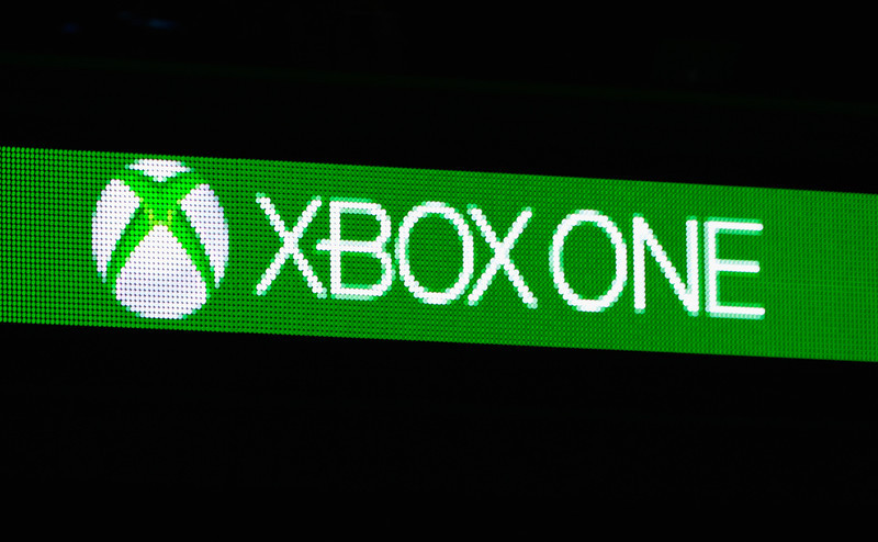 . Xbox One logo during the Microsoft Xbox news conference at the Electronic Entertainment Expo at the Galen Center on June 10, 2013 in Los Angeles, California. Thousands are expected to attend the annual three-day convention to see the latest games and announcements from the gaming industry.  (Photo by Kevork Djansezian/Getty Images)