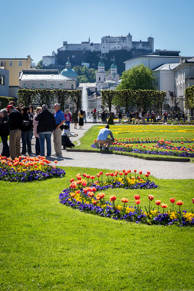 Mirabel Gardens and the Salzburg Fortress