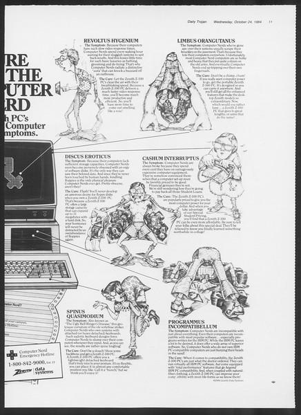 Daily Trojan, Vol. 97, No. 37, October 24, 1984