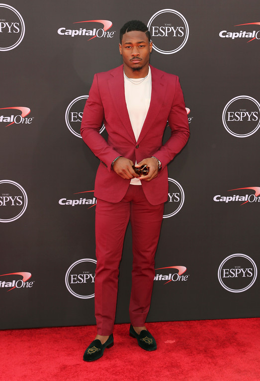 . Minnesota Vikings\' Stefon Diggs arrives at the ESPY Awards at Microsoft Theater on Wednesday, July 18, 2018, in Los Angeles. (Photo by Willy Sanjuan/Invision/AP)