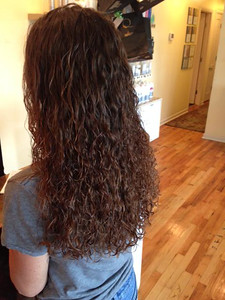 "Christina has really ""Pumped up the Volume""  by creating this beautiful texture perm #notyomommasperm"