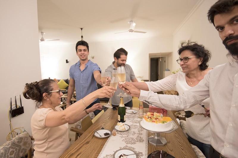 A toast to Anita on her Birthday