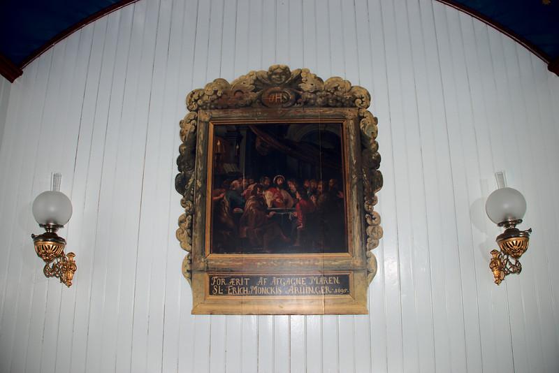 Altaristaflan í Staðarkirkju í Aðalvík.