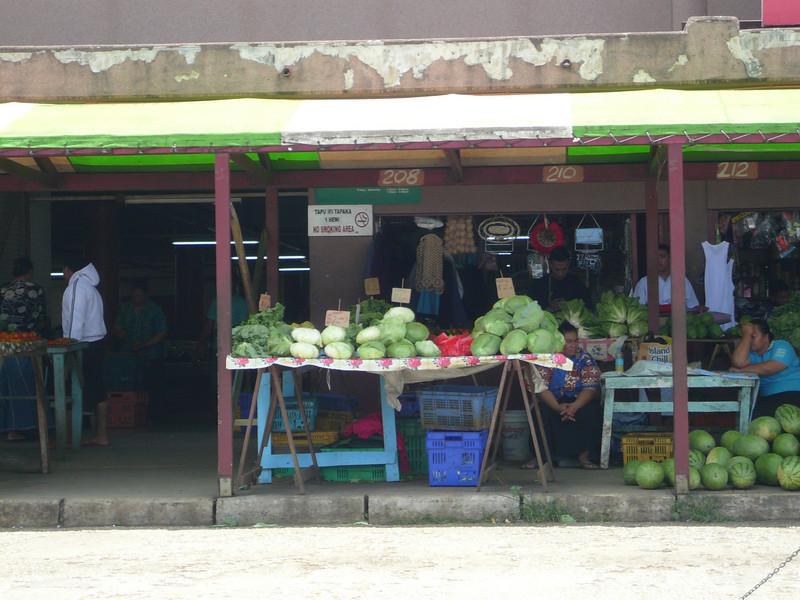 Maketi Talamahu, the market at Nuka Alofa, Tonga