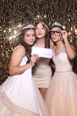 Paulina's Sweet 16 and Alejandra's Quince Mirror Booth 2019