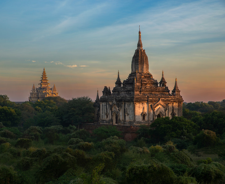 Bagan, located in an active earthquake zone, had suffered from many earthquakes over the ages, with over 400 recorded earthquakes between 1904 and 1975. A major earthquake occurred on 8 July 1975, reaching 8 MM in Bagan and Myinkaba, and 7 MM in Nyaung-U. The quake damaged many temples, in many cases, such as the Bupaya, severely and irreparably. Today, 2229 temples and pagodas remain.  Many of these damaged pagodas underwent restorations in the 1990s by the military government, which sought to make Bagan an international tourist destination. However, the restoration efforts instead drew widespread condemnation from art historians and preservationists worldwide. Critics are against that the restorations paid little attention to original architectural styles, and used modern materials,  Bagan,Myanmar,2017.