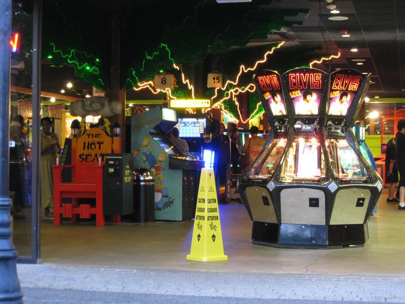 Inside the Palace Arcade.