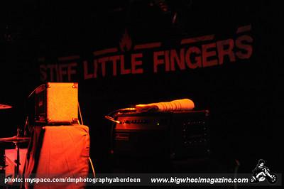Stiff Little Fingers - at The Warehouse - Aberdeen, UK - October 15, 2009