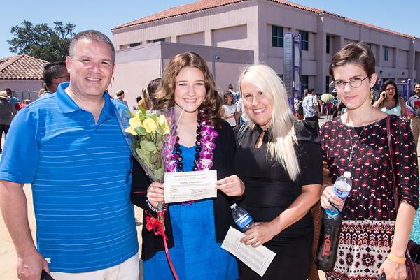Sophie's Middle School Graduation, June 23, 2015