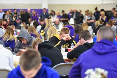 Avon football team has big breakfast before big game