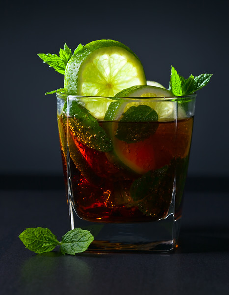 Cocktail  With Cola, Lime And Peppermint